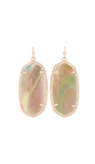 elle earrings by kendra scott in brown pearl