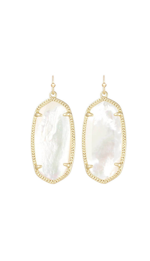 Elle Earrings in Mother of Pearl by Kendra Scott