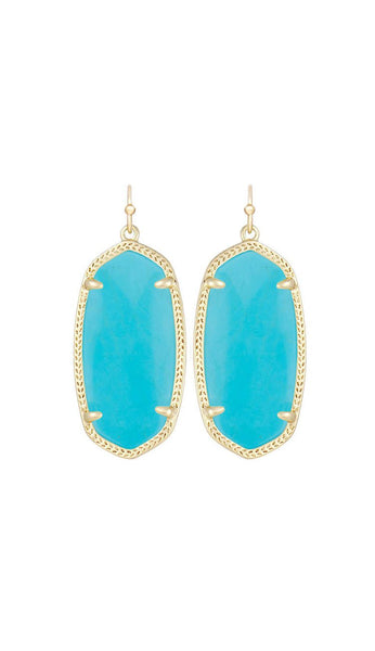 elle earrings by kendra scott in turquoise
