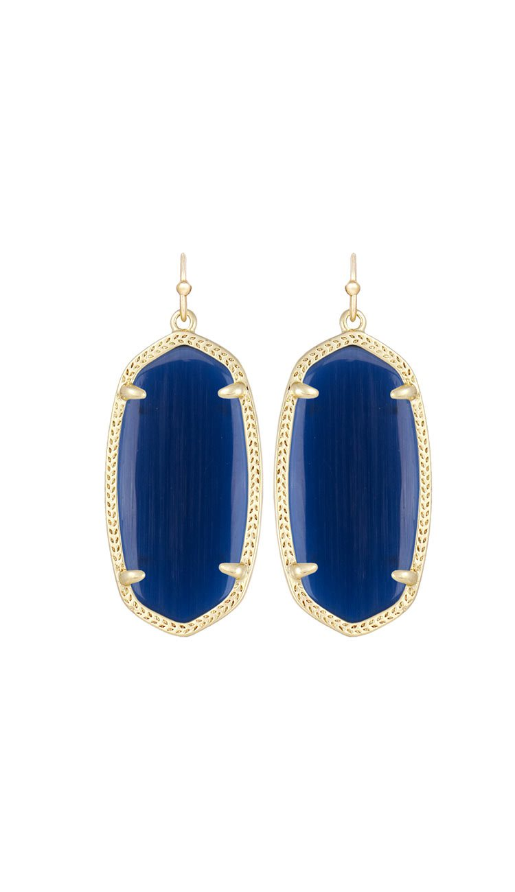 Elle earrings by kendra scott in navy cat's eye