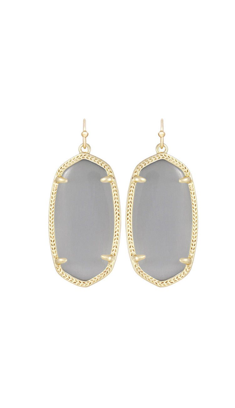 elle earrings in slate by kendra scott