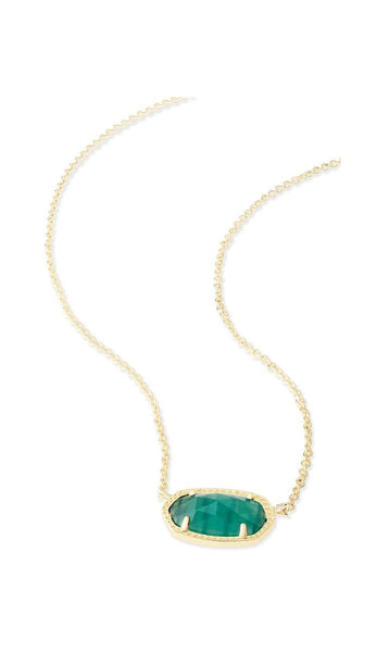 Emerald Cat's Eye Elisa Pendant Necklace BY Kendra Scott