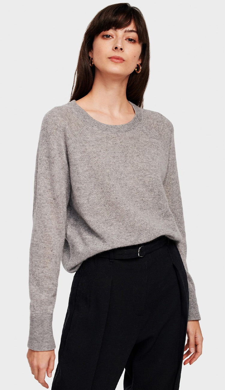 white and warren essential sweatshirt in Grey Heather
