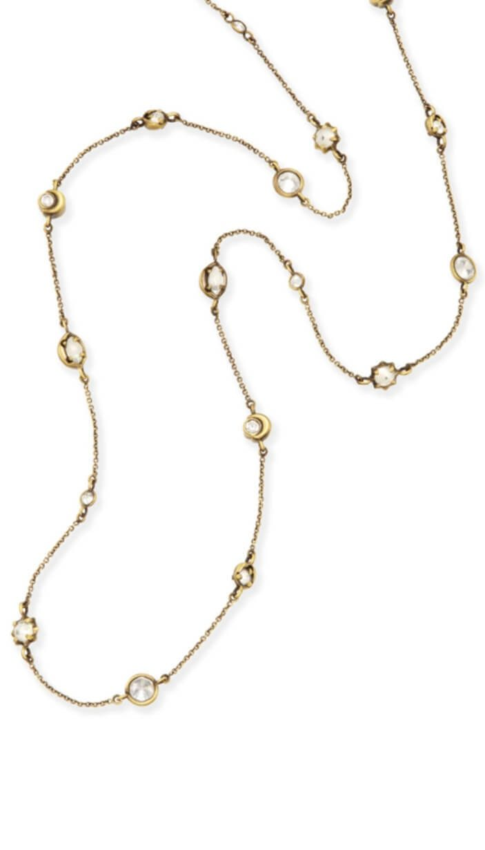 Augie Long Necklace - Antique Brass