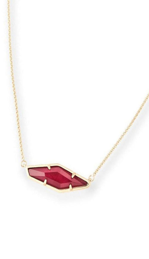 Beth Pendant Necklace in Burgundy Illusion