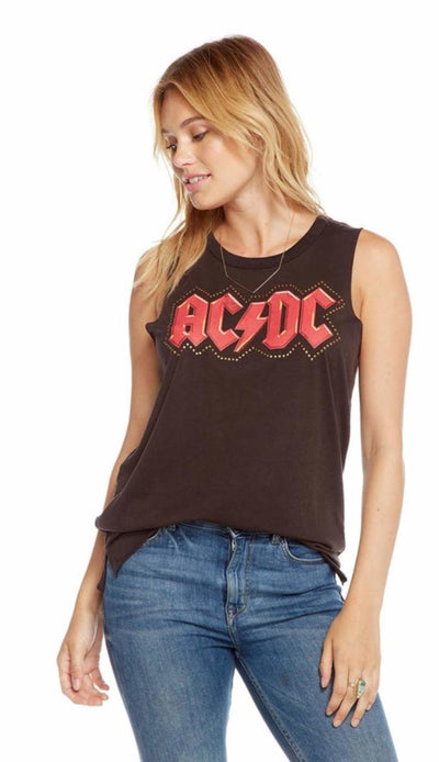 ACDC Studded Logo Graphic Tee