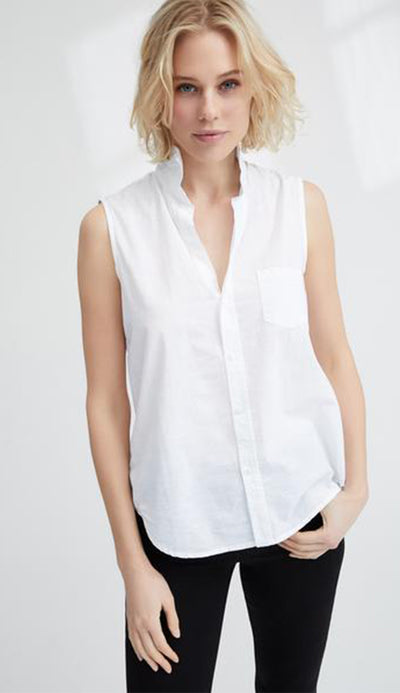 fiona sleeveless shirt by frank & eileen
