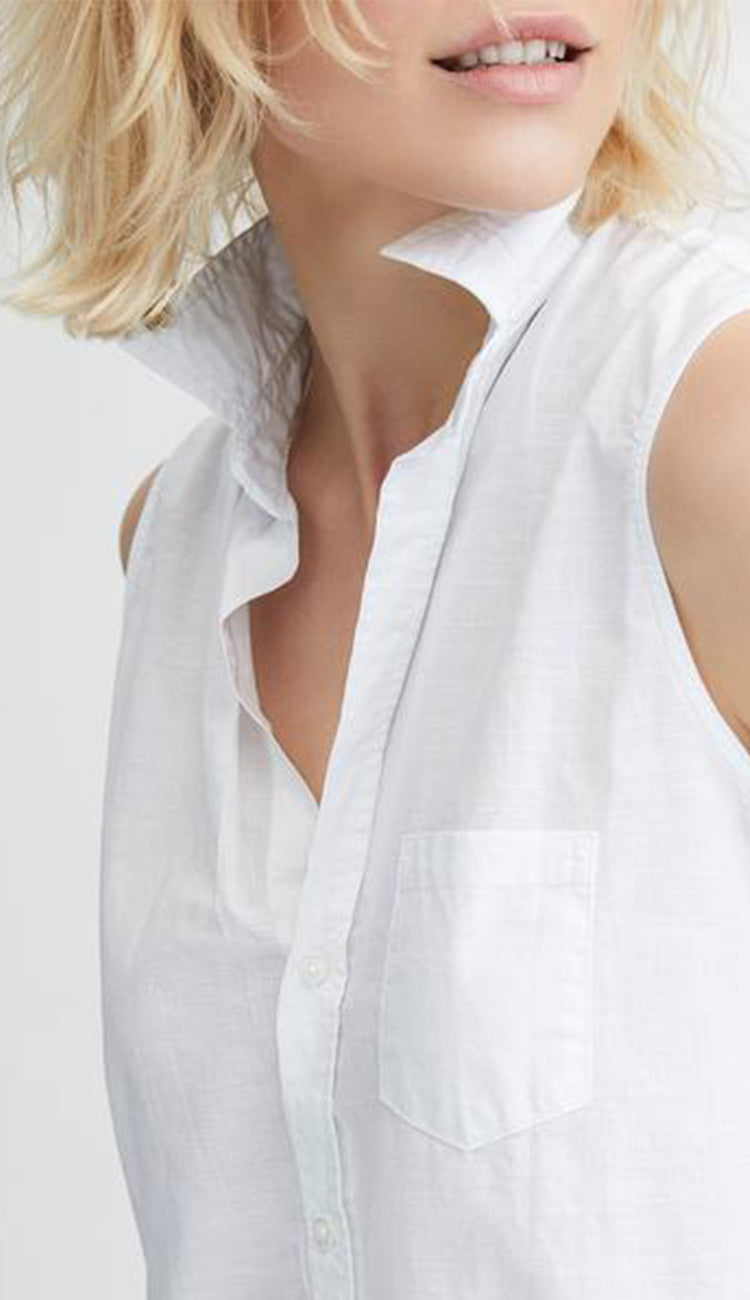 fiona sleeveless shirt by frank & eileen detail