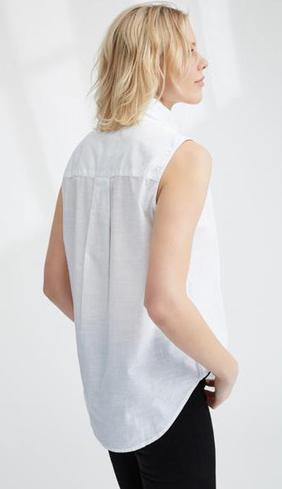 fiona sleeveless shirt by frank & eileen back detail