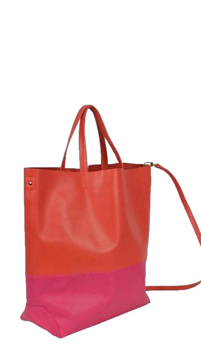 Coral and Fuchsia Milano Tote
