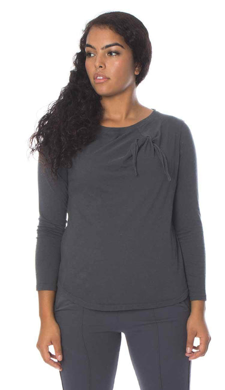 Cashmere Fluted Cuff Crewneck Sweater