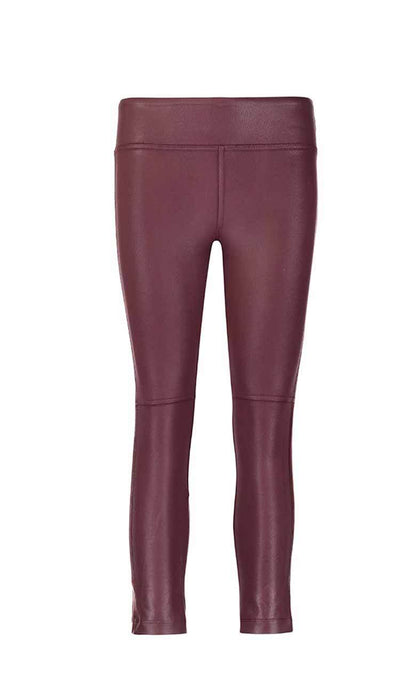 coated gemma skimmer mid-rise vegan leather by David Lerner in bordeaux