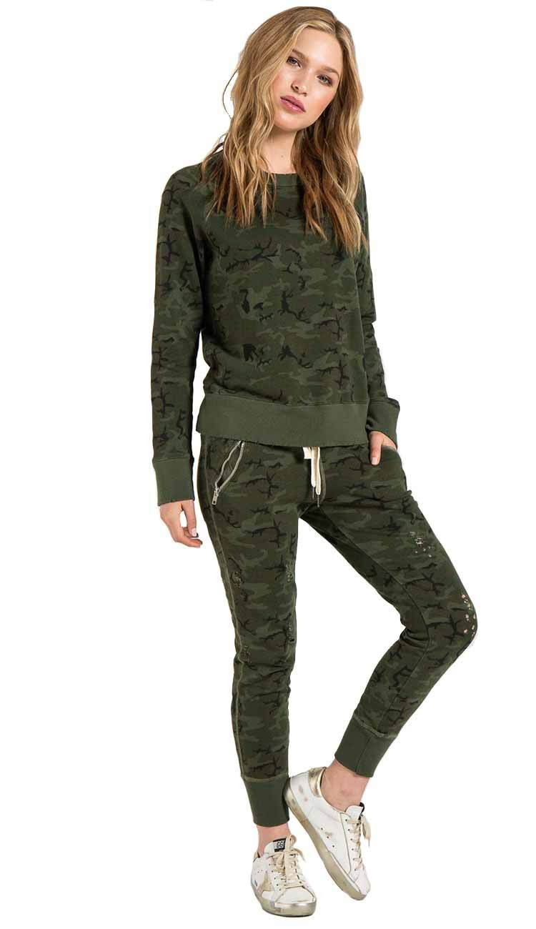 GRAVITY DECONSTRUCTED SWEATPANTS IN CAMOUFLAGE BY PHILANTHROPY