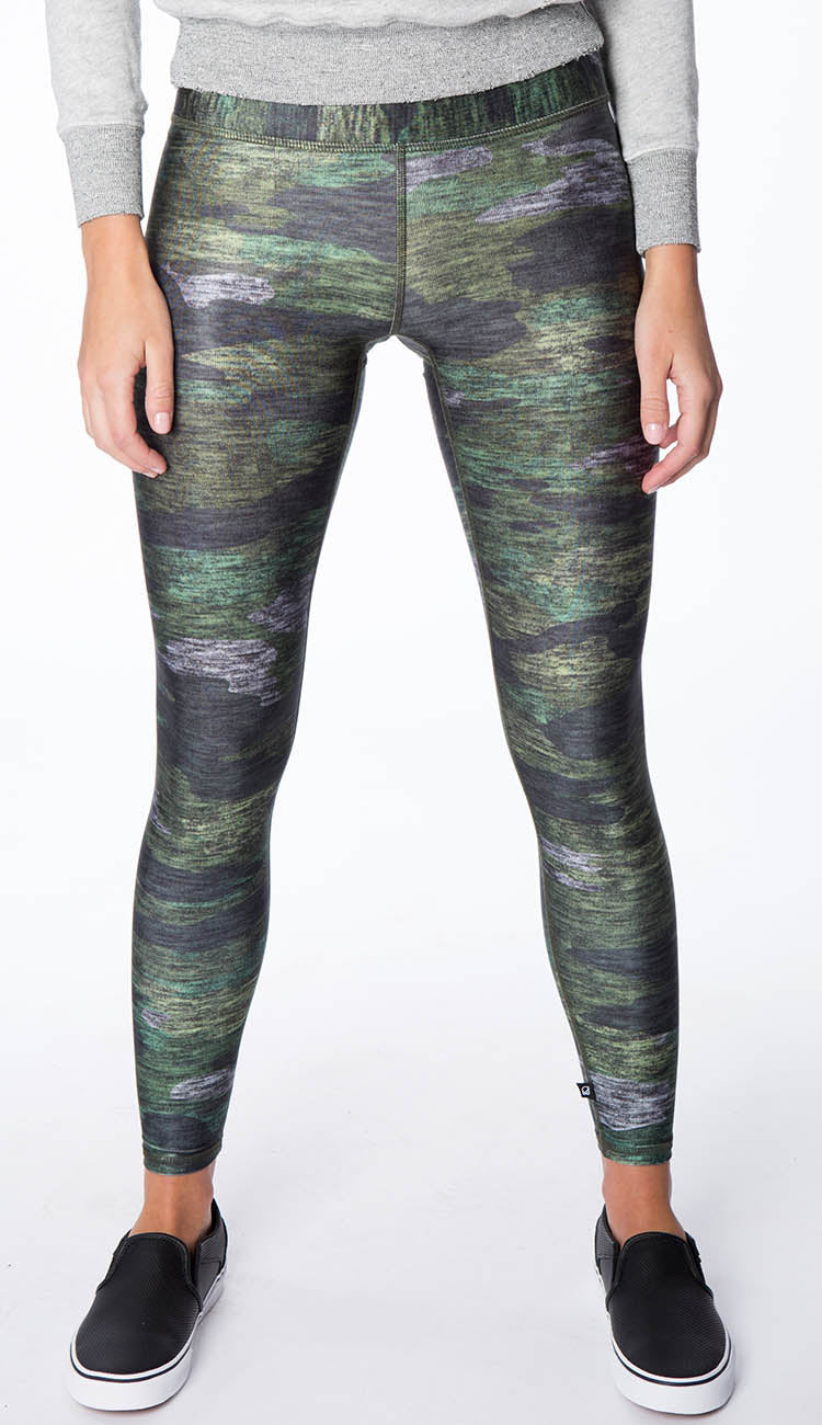 Heathered green camo leggings by terez