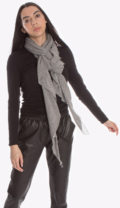 heather grey love scarf by grisal