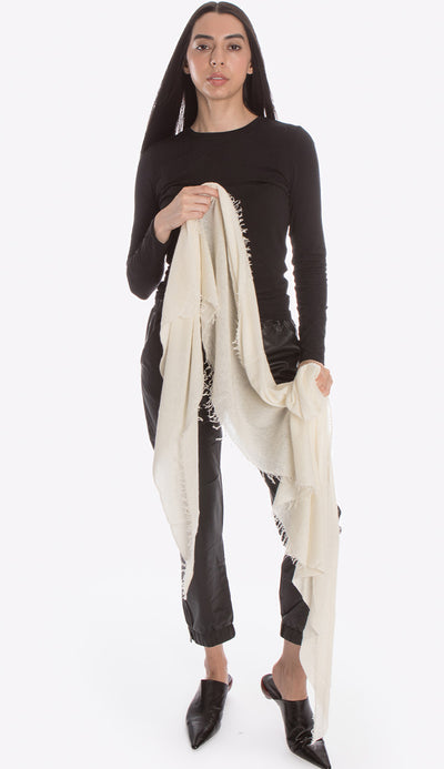 cashmere white milk love scarf by grisal