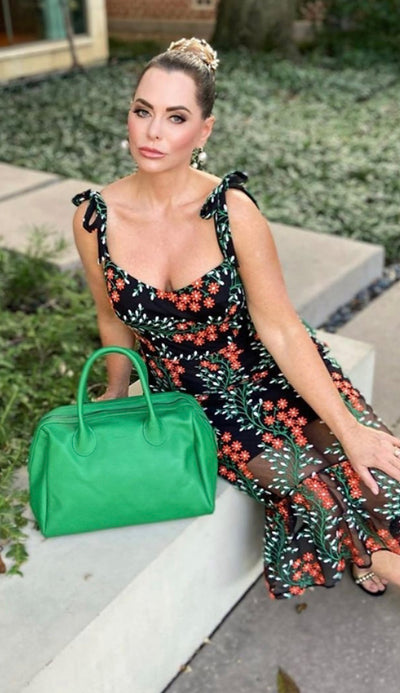 Beck Hayes satchel in envy green - paula and chlo