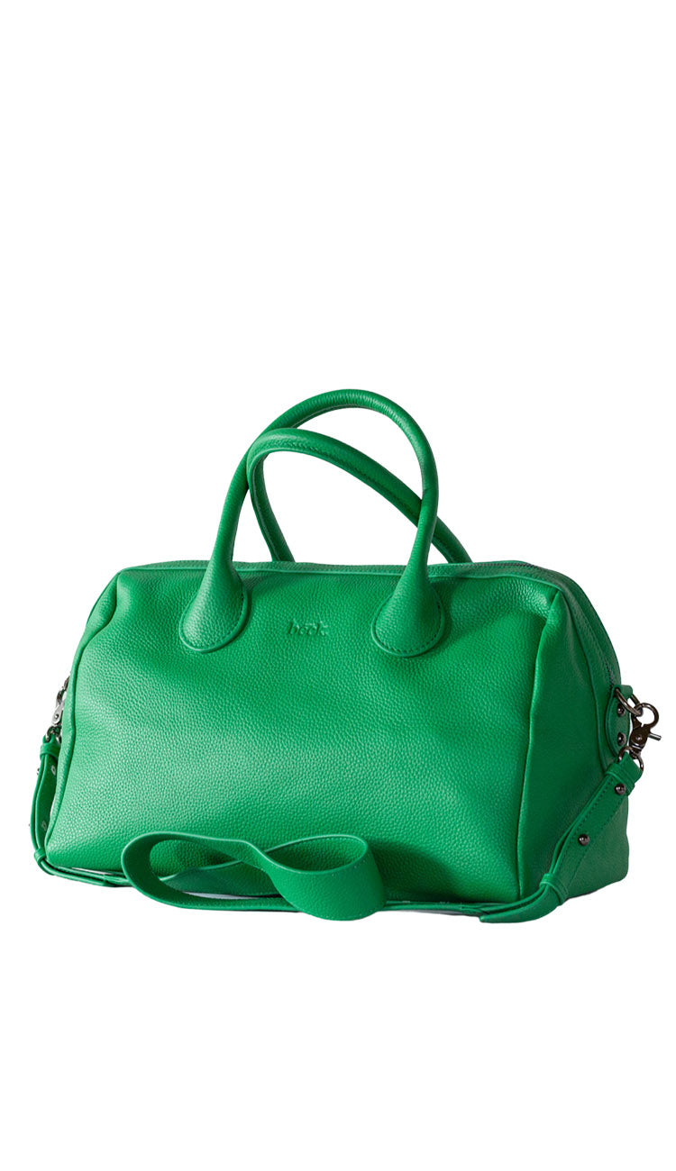 BECK HAYES LEATHER BAG IN ENVY - GREEN - Paula & Chlo