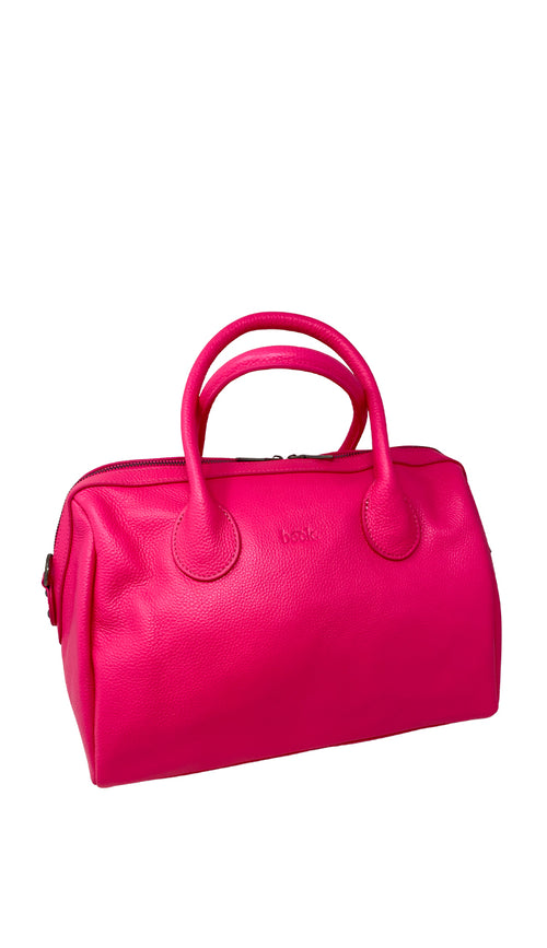 Beck Hayes leather satchel - flamingo - Paula & Chlo
