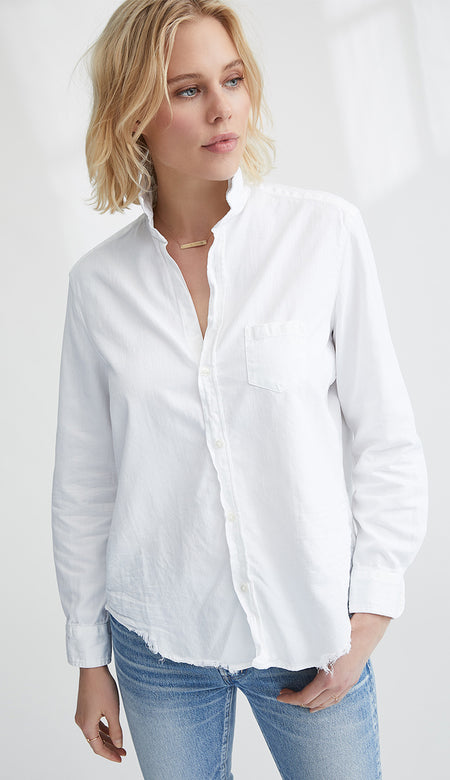 Eileen White Italian Chambray Button Down Shirt