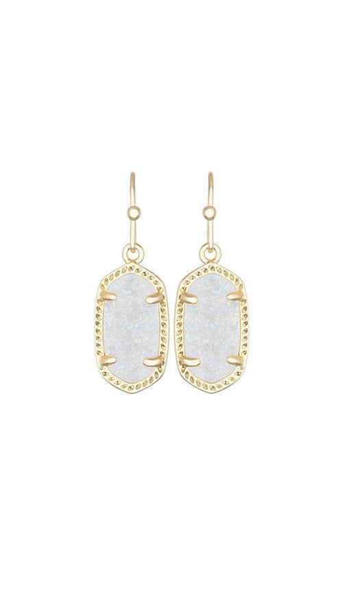 Iridescent Drusy Lee Earrings BY KENDRA SCOTT