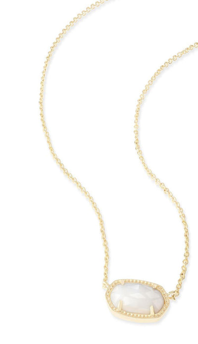 Ivory Mother of Pearl  Elisa Necklace by kendra scott