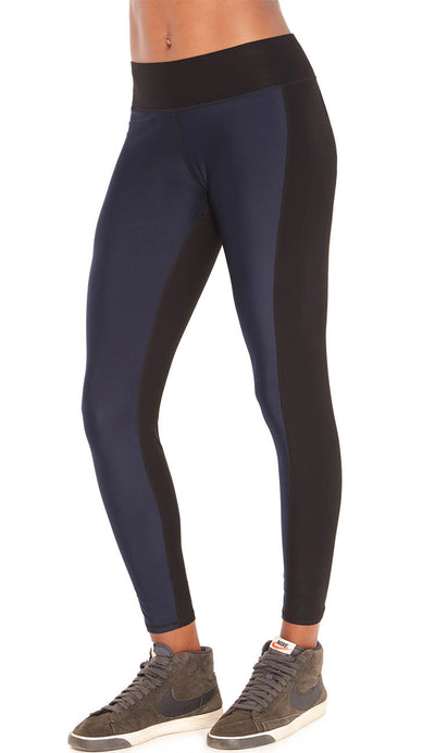 knock em out tall band leggings navy and black by terez