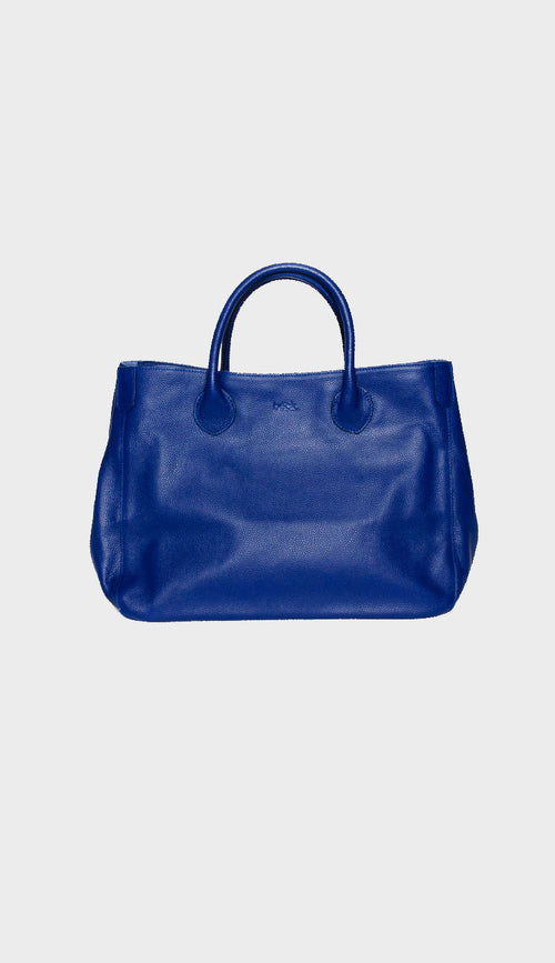 Beck medium leevi blue leather tote