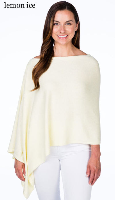 caroline grace cotton cashmere topper in lemon ice