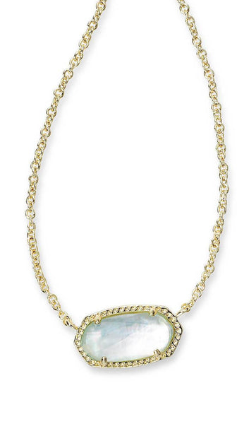 Kendra Scott Elisa Pendant Necklace Gold Plated Stone