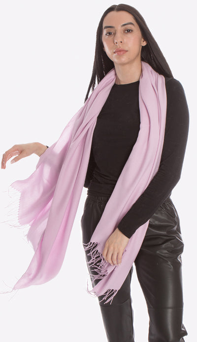 lilac pashmina by pia rossini from italy