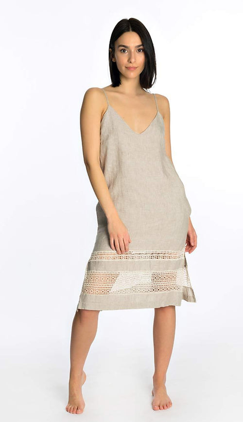 Capri linen slip dress by Gold Hawk