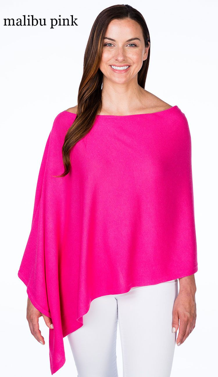 malibu pink cotton cashmere topper by caroline grace