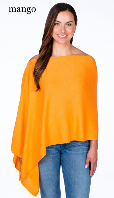 caroline grace cotton cashmere topper in mango