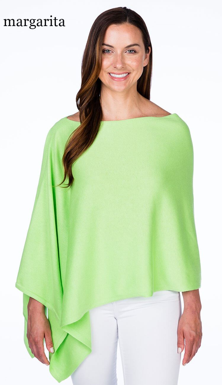 caroline grace cotton cashmere topper in margarita