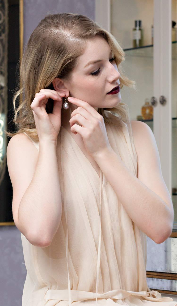 margo morrison grey baroque drop earrings