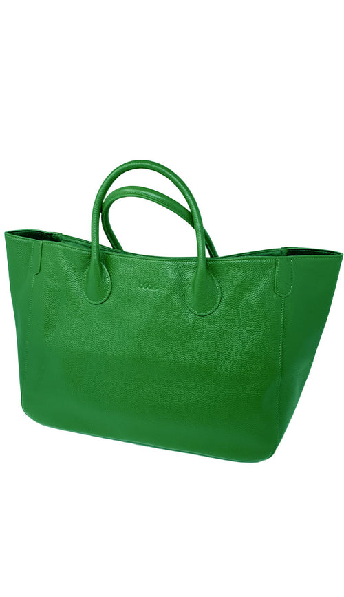 Beck medium tote in envy green - paula and chlo