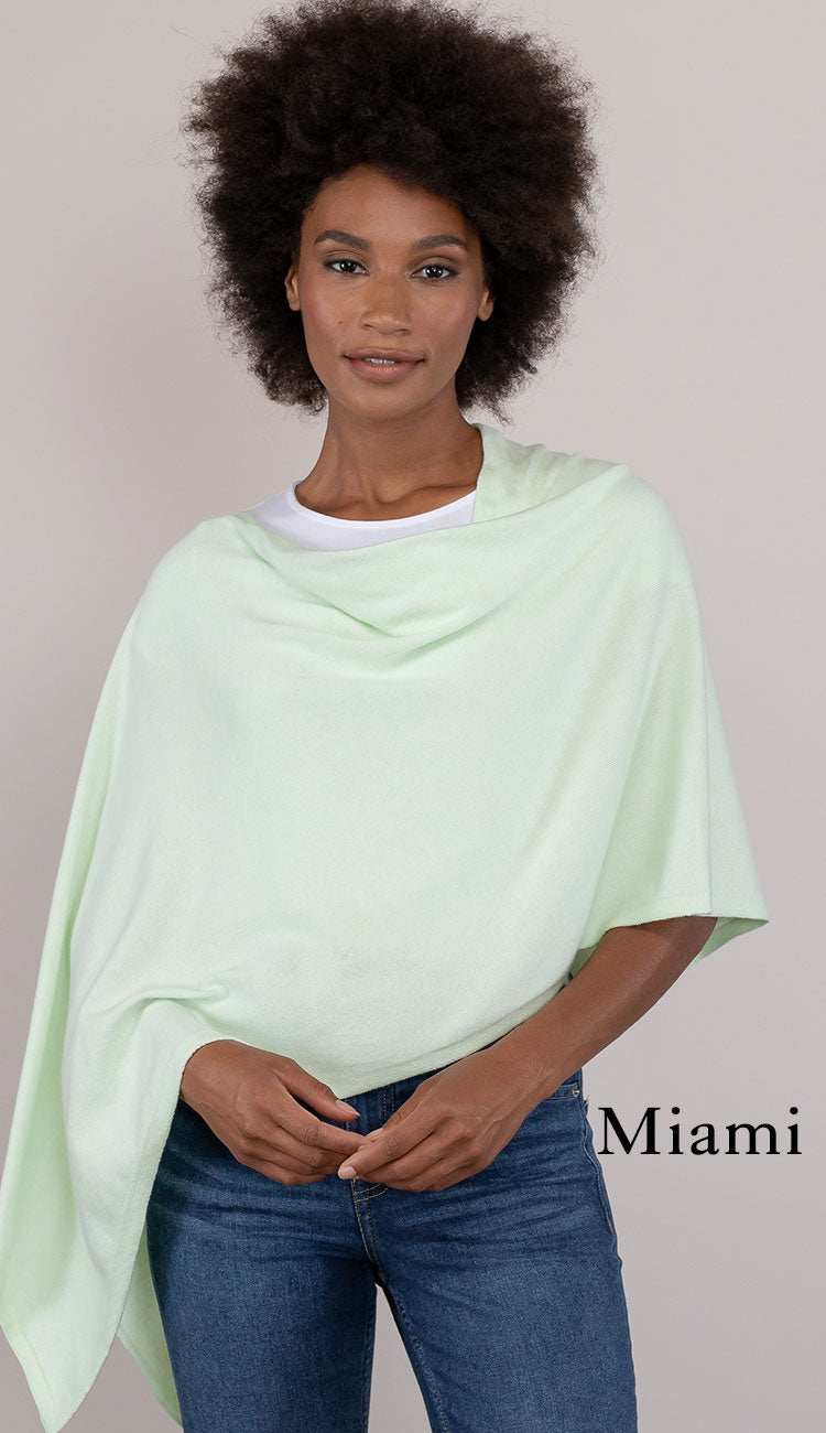 Miami cotton cashmere topper - caroline grace