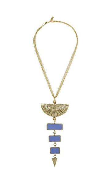 mina necklace in brass and enamel by vanessa mooney