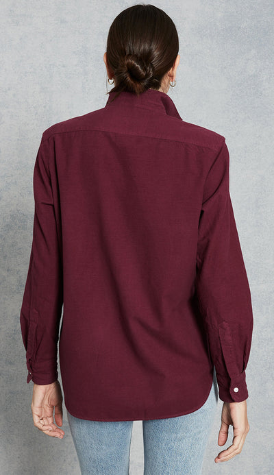 Frank & Eileen - Eileen Shirt in Berry Flannel back view