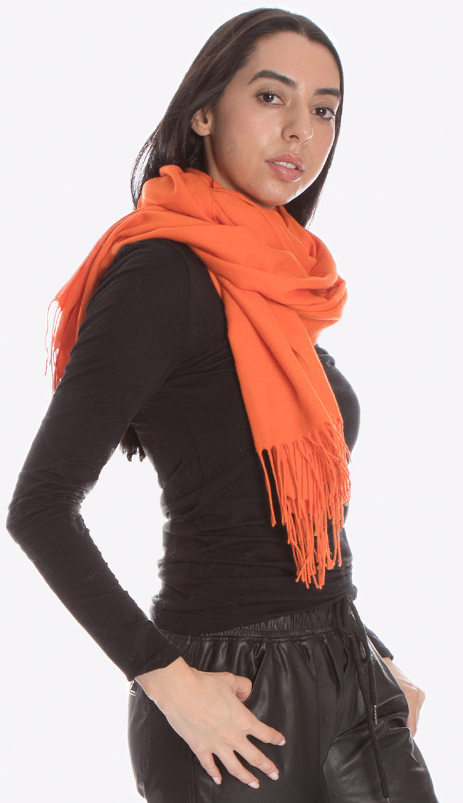 Italian pashmina in orange by pia rossini