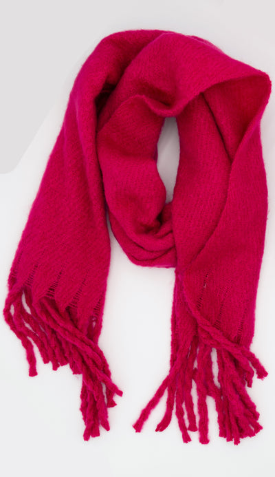 oversized scarf in raspberry -paula and chlo