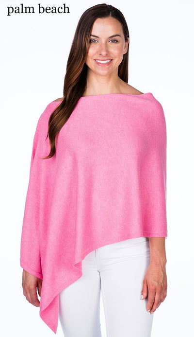 caroline grace cotton cashmere topper in palm beach