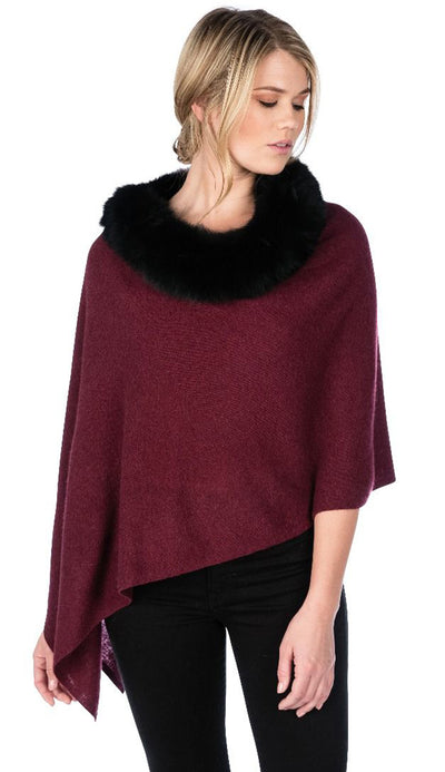 paprika black fox trim topper by claudia nichole cashmere