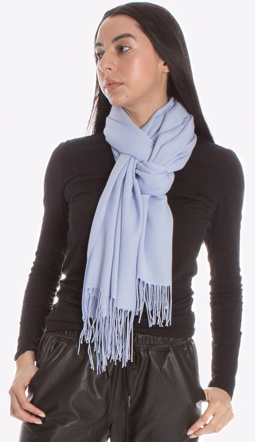 pia rossini denim blue pashmina from Italy