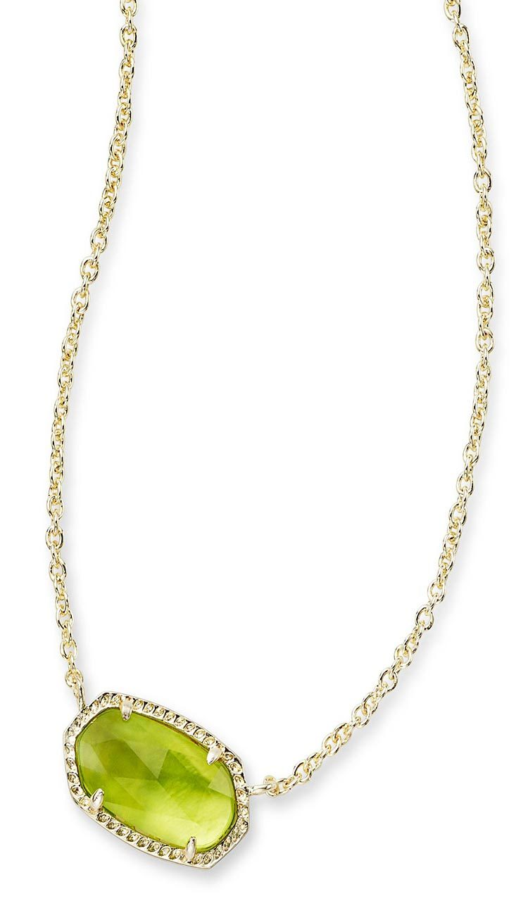 Peridot Elisa Necklace by Kendra Scott