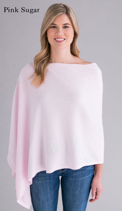 pink sugar cotton cashmere topper - caroline grace