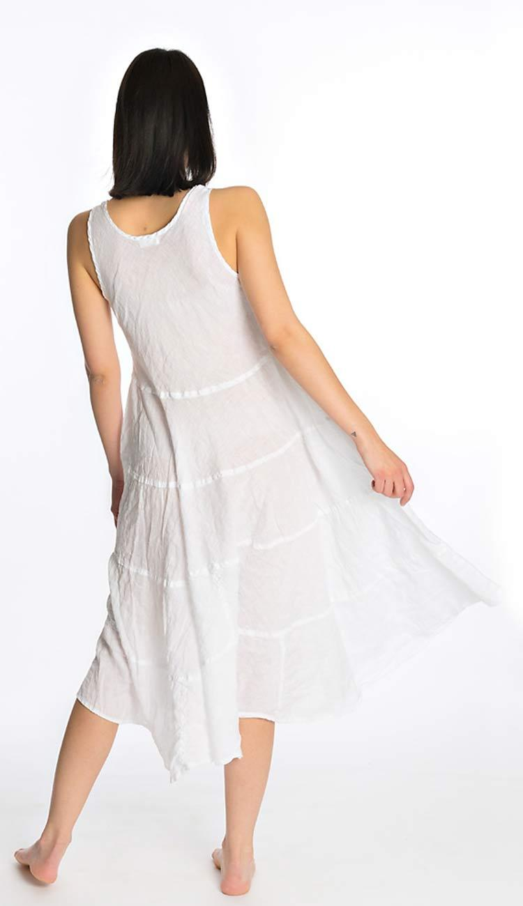 Raffi Linen Dress by CP Shades back view