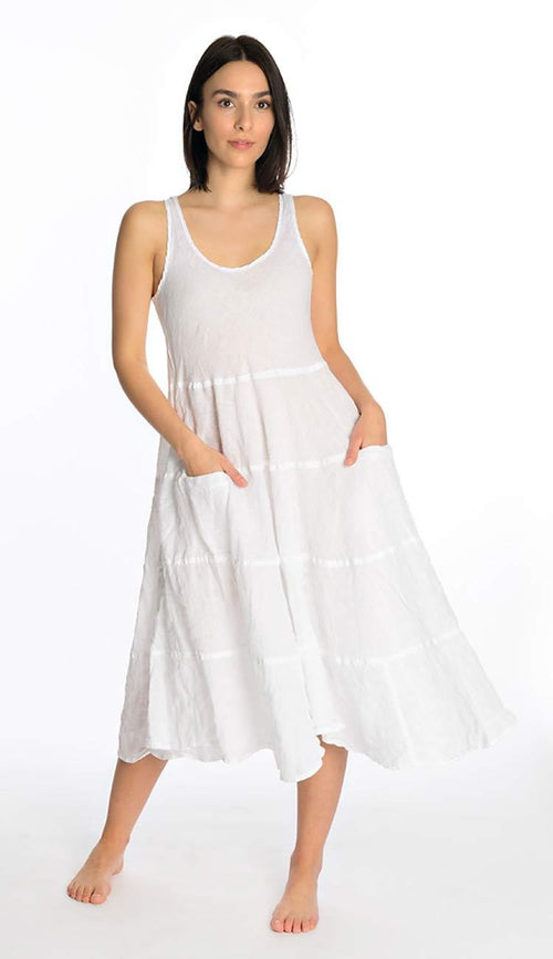 Raffi White Linen Dress by CP Shades