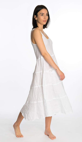 Raffi Linen Dress by CP Shades side view